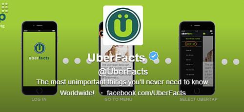 UberFacts Twitter Bio