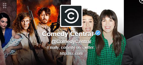 Comedy Central Twitter Bio