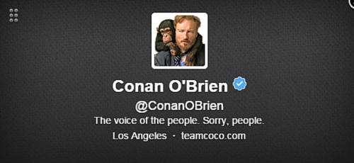 Conan O'Brien Twitter Bio