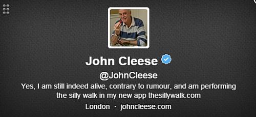 John Cleese Twitter Bio