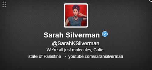 Sarah Silverman Twitter Bio