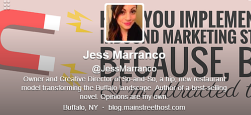 Jess Marranco Twitter Bio