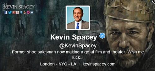 Kevin Spacey Twitter Bio