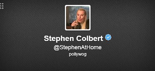 Stephen Colbert Twitter Bio