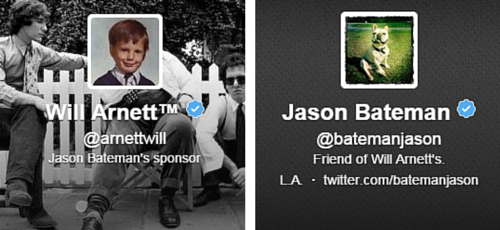Will Arnett and Jason Bateman - Twitter Bios