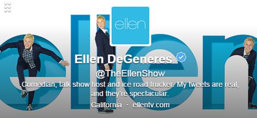 Ellen DeGeneres Twitter Bio