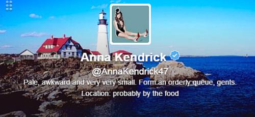 Anna Kendrick Twitter Bio