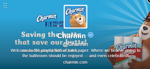 Charmin Twitter Bio
