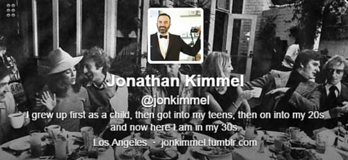 Jon Kimmel Twitter Bio