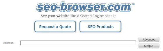 SEO Browser address bar