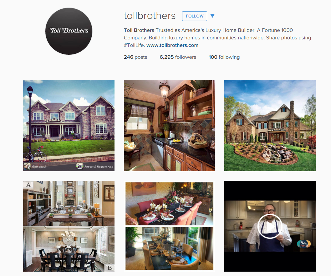 Toll Brothers Instagram