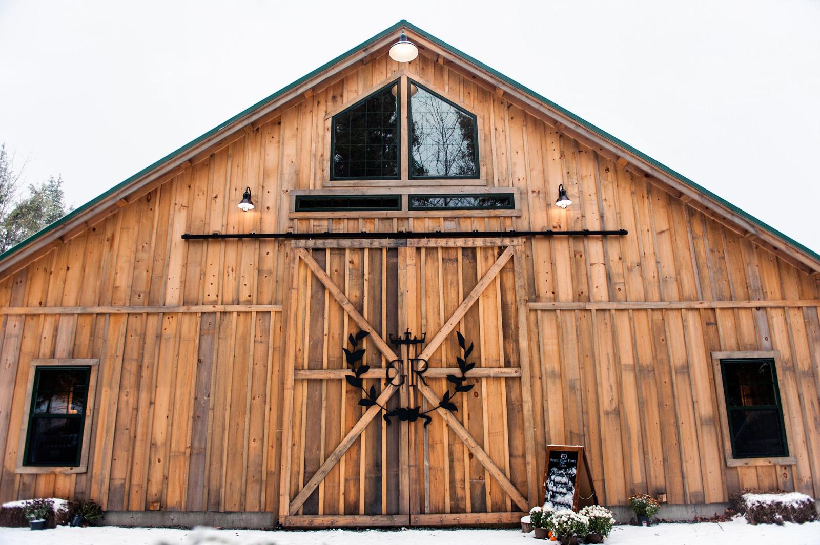 Marsala Pantone Color Maine Rustic Wedding Venue