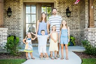 Meet The Pustejovsky Family! John Houston Custom Homes Newest Happy Homeowners