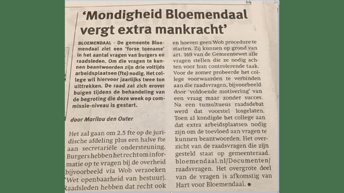 0066 - Newspaper Bloemendaal - General Use