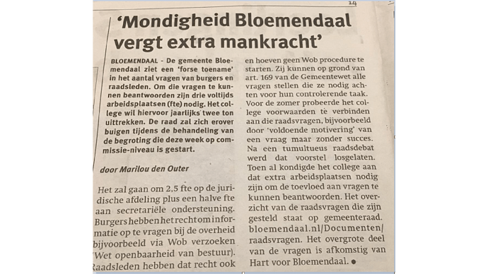 0066 - Newspaper Bloemendaal - General Use