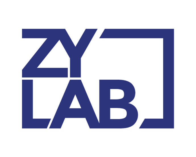 ZyLAB logo blue on white