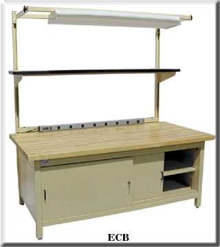 enclosed cabinet bench