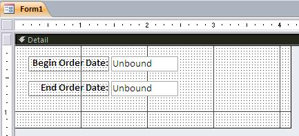 Create an Interactive Access Form to Filter a Query by Date