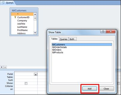 Creating a Drop-Down Parameter in Access 2010
