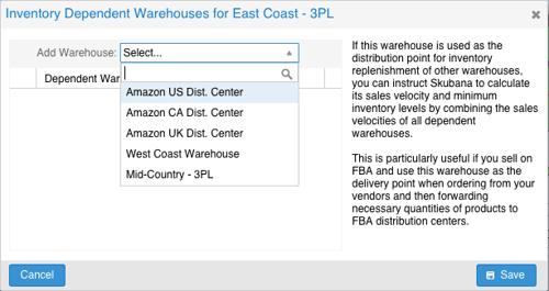 Skubana - Inventory-Dependent Warehouses