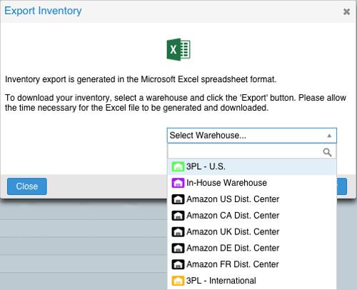 Skubana - Inventory Export