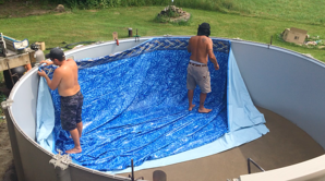 how to get stains out of pool liner