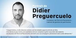 Portrait de Didier Preguercuelo, fondateur de Pierre & Placements