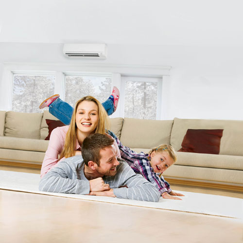 Best air conditioning for a Boston family room.