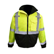 Radians SJ11QB Class3 High Visibility Weatherproof Bomber Jacket with Quilted Built-in Liner