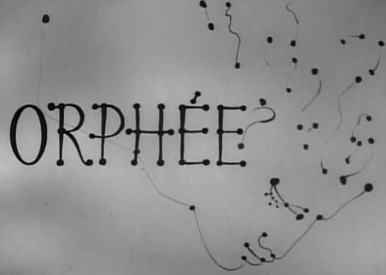 Title sequence in Orphee