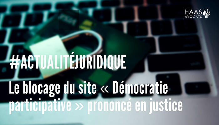 Blocage site democratie participative