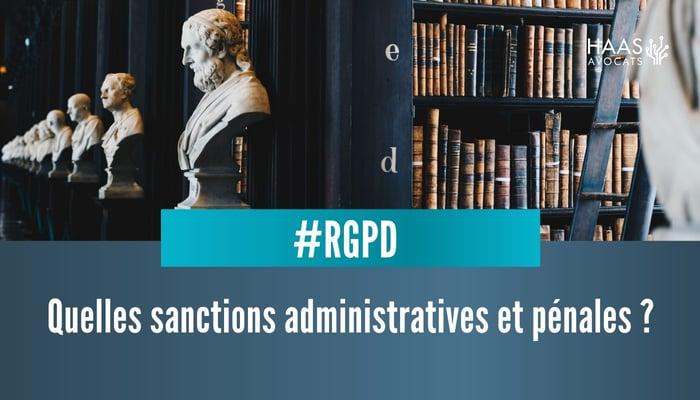 Sanctions du RGPD