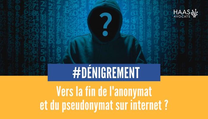 anonymat et pseudonymat sur internet