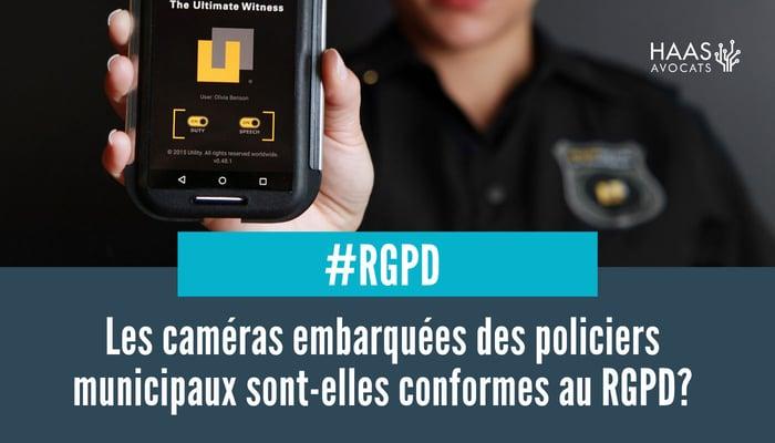 cameras embarquees des policiers municipaux