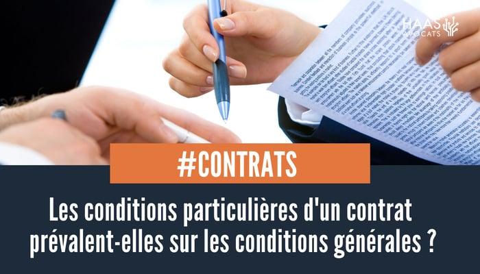 conditions generales et conditions particulières d'un contrat