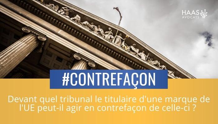 contrefacon en ligne tribunal competent
