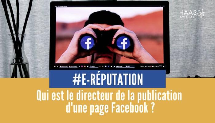 directeur de publication d'une page facebook