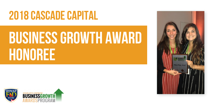 2018-10-04 Fire-Dex Recognized as 2018 Cascade Capital Business Growth Award Honoree