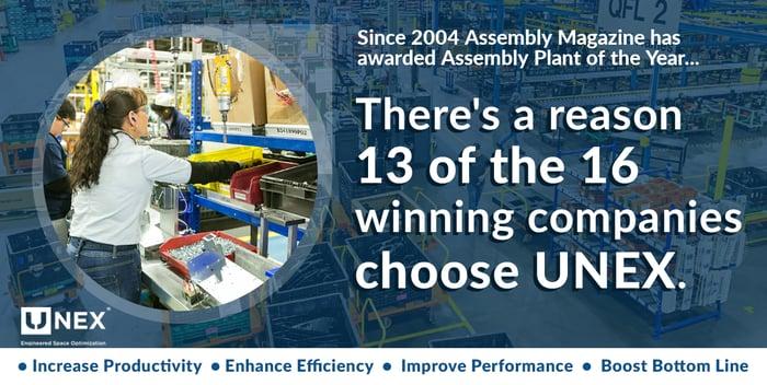 Top Assembly Plants Choose UNEX