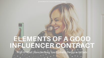 Elements of a Good Influencer Contract