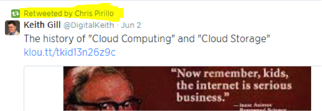 Retweeted by Chris Pirillo