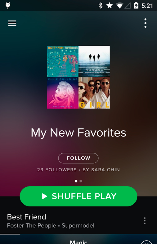 Find your Favorities on Spotify