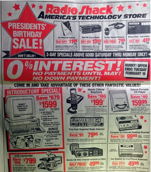 Radio Shack & Prospecting