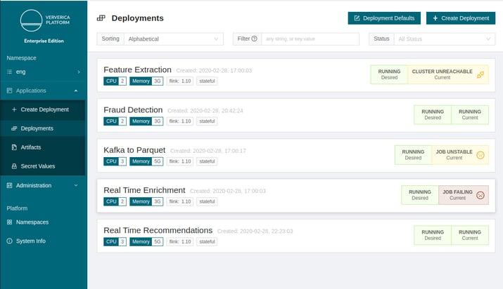 Ververica Platform, Ververica Platform 2.1, Apache Flink, stream processing, streaming pipelines