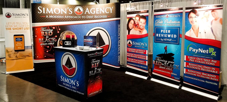 Simon's HFMA Conference Booth Setup