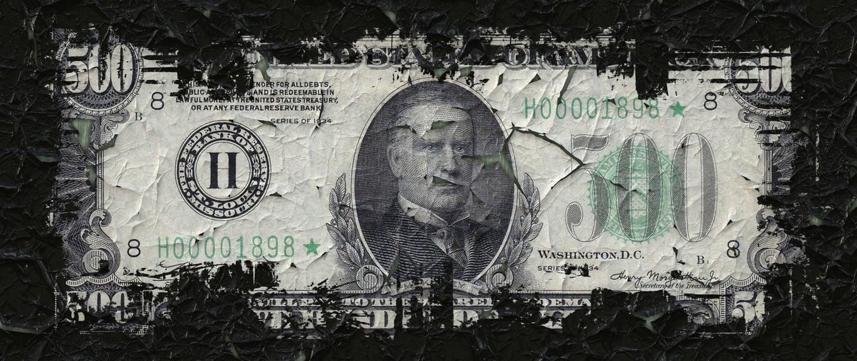 500 dollars fades away