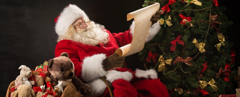 Santa is checking his list!