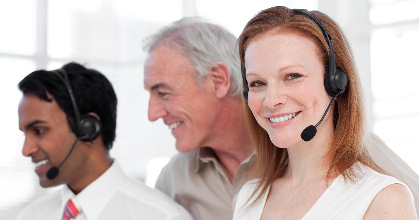 Collections agents in call center