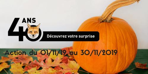 40 ans, 40 surprises... Découvrez la surprise de novembre 2019