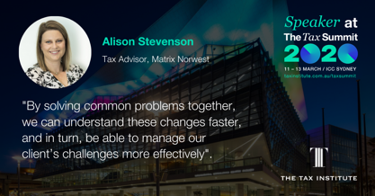 Alison Stevenson talks about the benefit of solving common problems together.